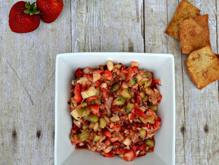 Here's a super-easy recipe that's always a hit when brought to parties, especially in the summer months! Minimal ingredients needed and you can take a short-cut with the tortilla chips if you're pr...