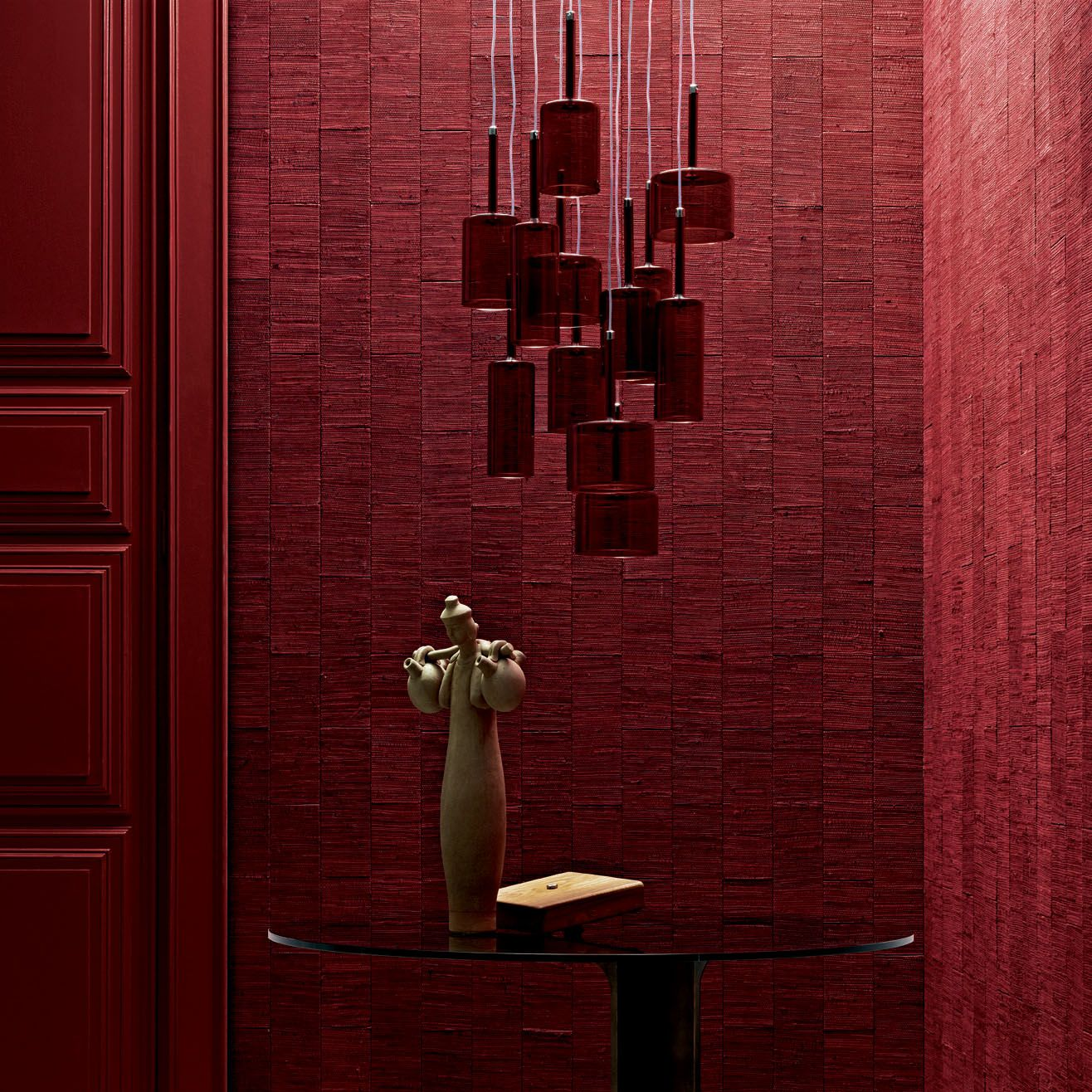 Pezzara leather tiles #architecture #design | Leather wall ...