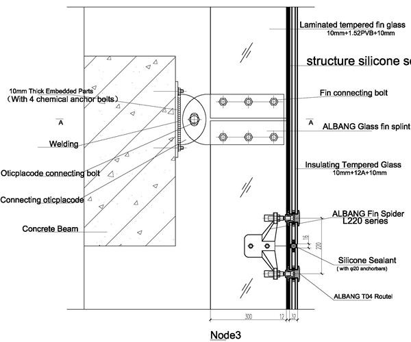 Spider Glass System Details : Axonometric spider joint lcd and glass google search
