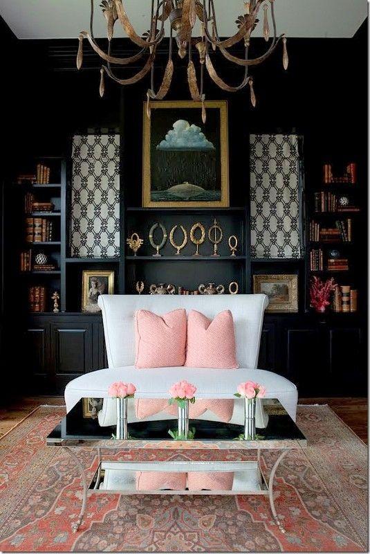 Black Pink Gold Interior Interior Design Home Decor