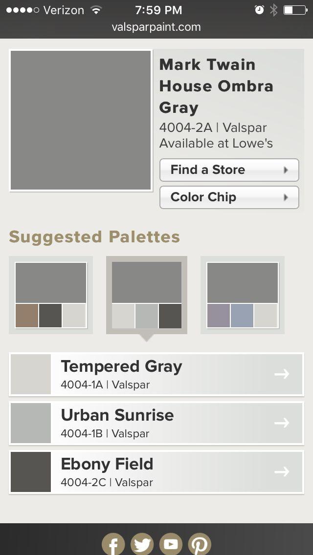 Pin By Leyna Hanson On Color Palettes Color Chip Palette Valspar
