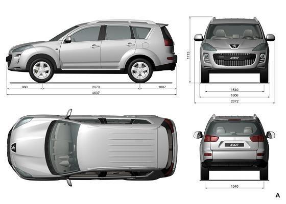 standard suv dimensions dimensions peugeot cars. Black Bedroom Furniture Sets. Home Design Ideas