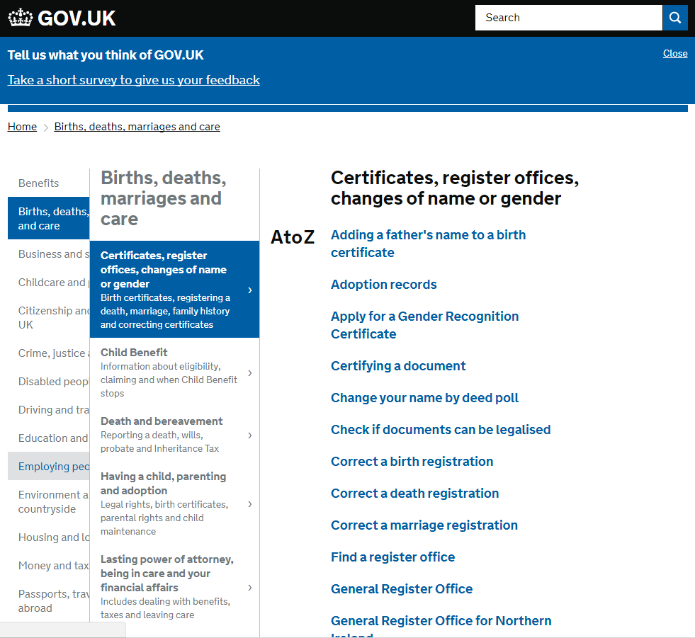 Fein Directgov Birth Certificate Ideen - zertifizierungsstelle ...