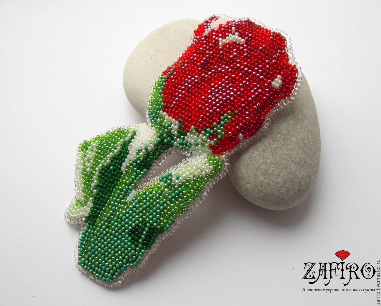 Цветочек из бисера вышивка