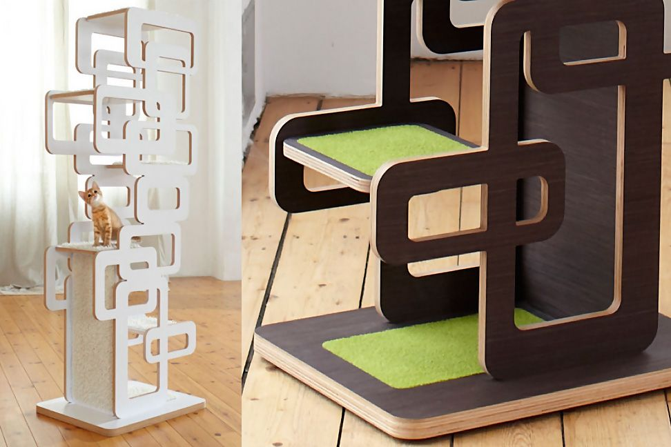 Seven Modern Design Cat Trees (and Two Modern Cat Shelves)