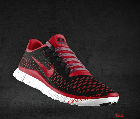 new arrival 78281 daf59 Cheapest Mens Nike Free 3.0 V4 Black Gym Red Wolf Grey Purple Red Lace Shoes
