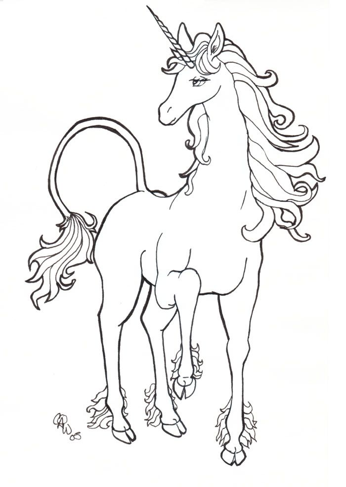 The Last Unicorn Unicorn Coloring Pages Unicorn Drawing