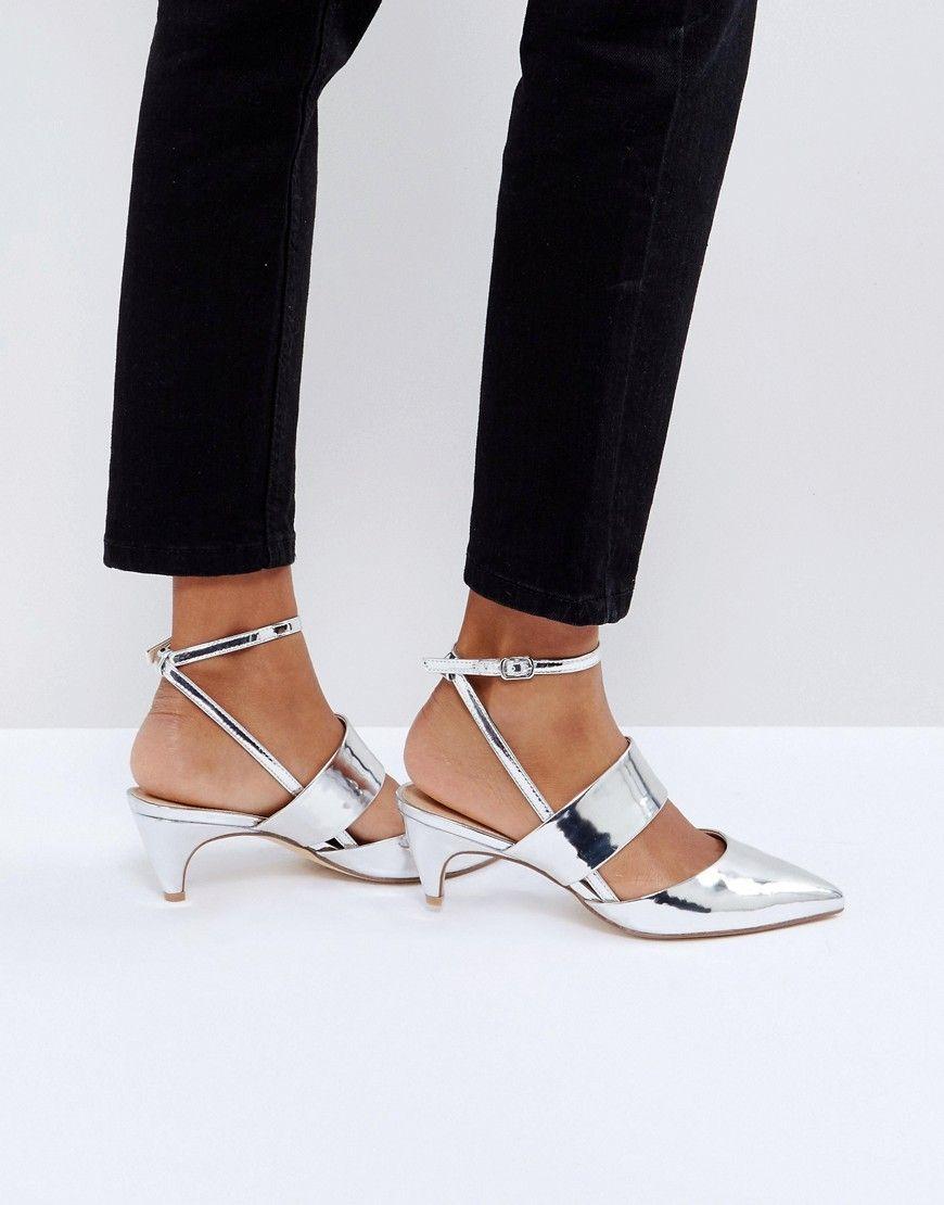 0aeee44bf4 Office Maple Metallic Kitten Heel Shoes | I'm Having A