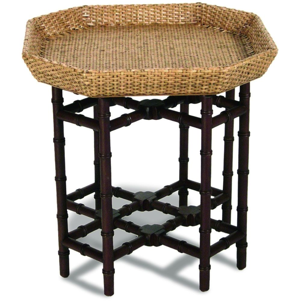 Plantation Rattan Coffee Table: Bamboo And Wicker End Table