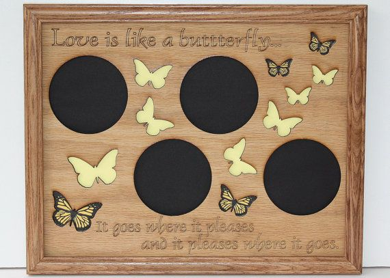 11x14 Butterfly Picture Frame Collage Mat Insert Unique Wedding