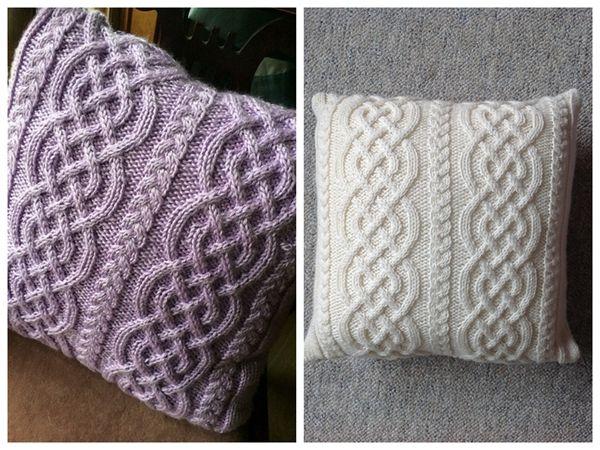 Celtic Knit Aran Pillow Pinterest Pillows Crochet And Knit Crochet