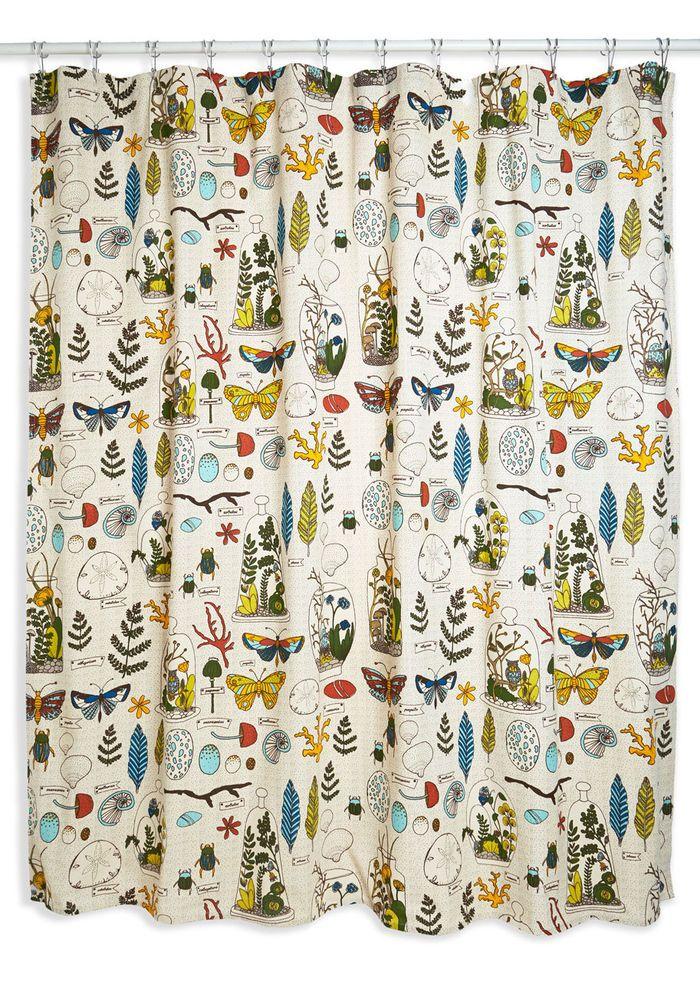 Decorative Nature Inspired Danica Studio Shower Curtain Ephemera DanicaStudios CottageBeachNature
