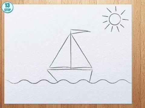 How To Draw A Boat Step By Step Youtube With Images Easy