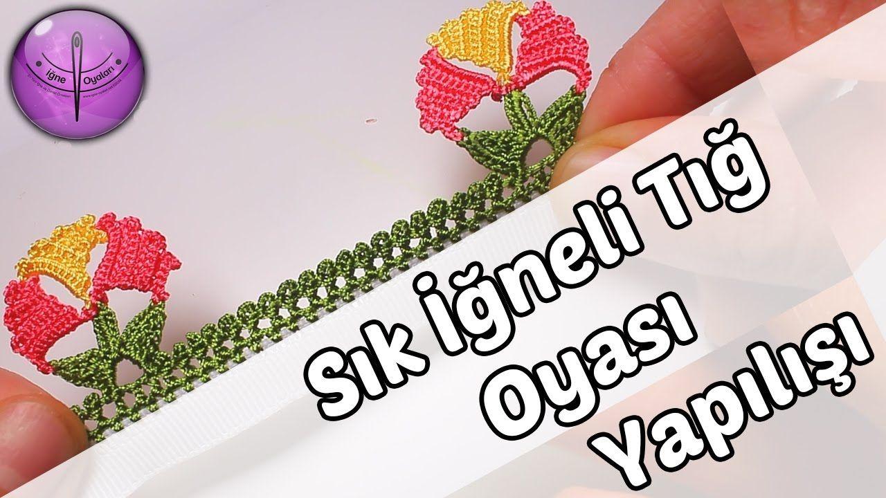 Prenses Tacı Modeli Tığ Oyası Yapılışı Anlatımlı Türkçe Videolu