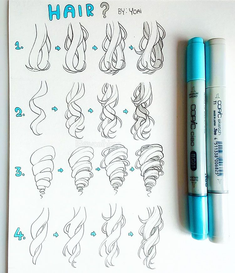 Photo of 22 How to Draw Hair Ideas and Step-by-Step Tutorials – Beautiful Dawn Designs