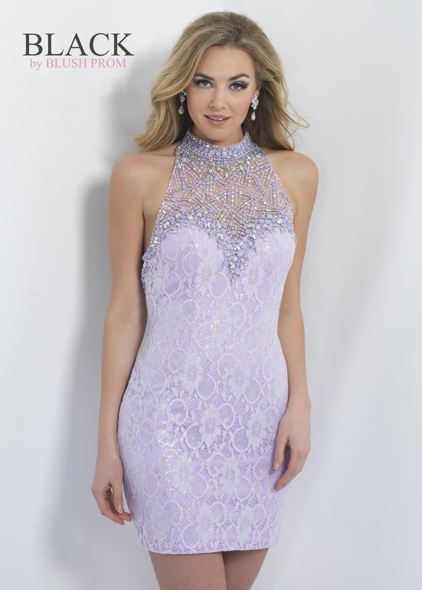 Black by blush c jeweled illusion lace cocktail dress fashion
