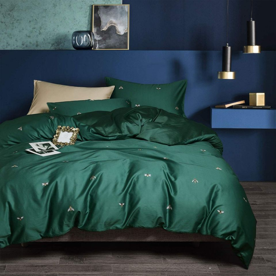 The Cool Decor Color That S Taking Over Homes In 2019 King Bed Sheets Green Bedding Cotton Bedding Sets