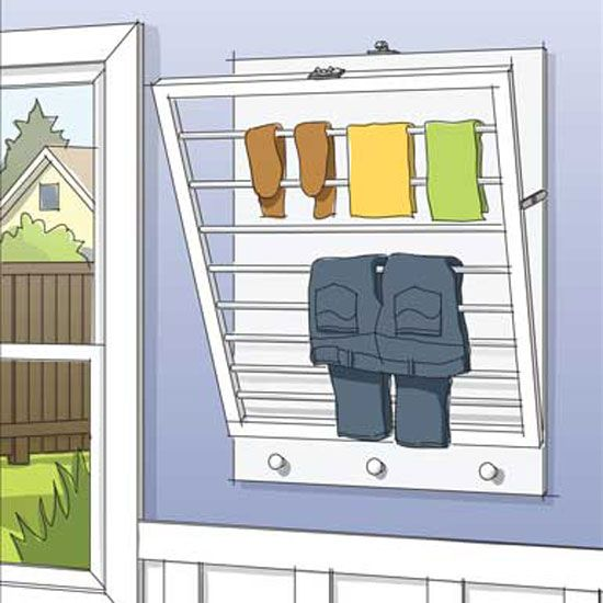 Wall Mounted Drying Racks For Laundry Room Fascinating Try This Diy Wallmounted Drying Rack  Wall Mount Laundry Rooms Decorating Design