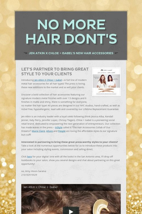 Help spread the word about No More Hair Dont's. Please share! :)