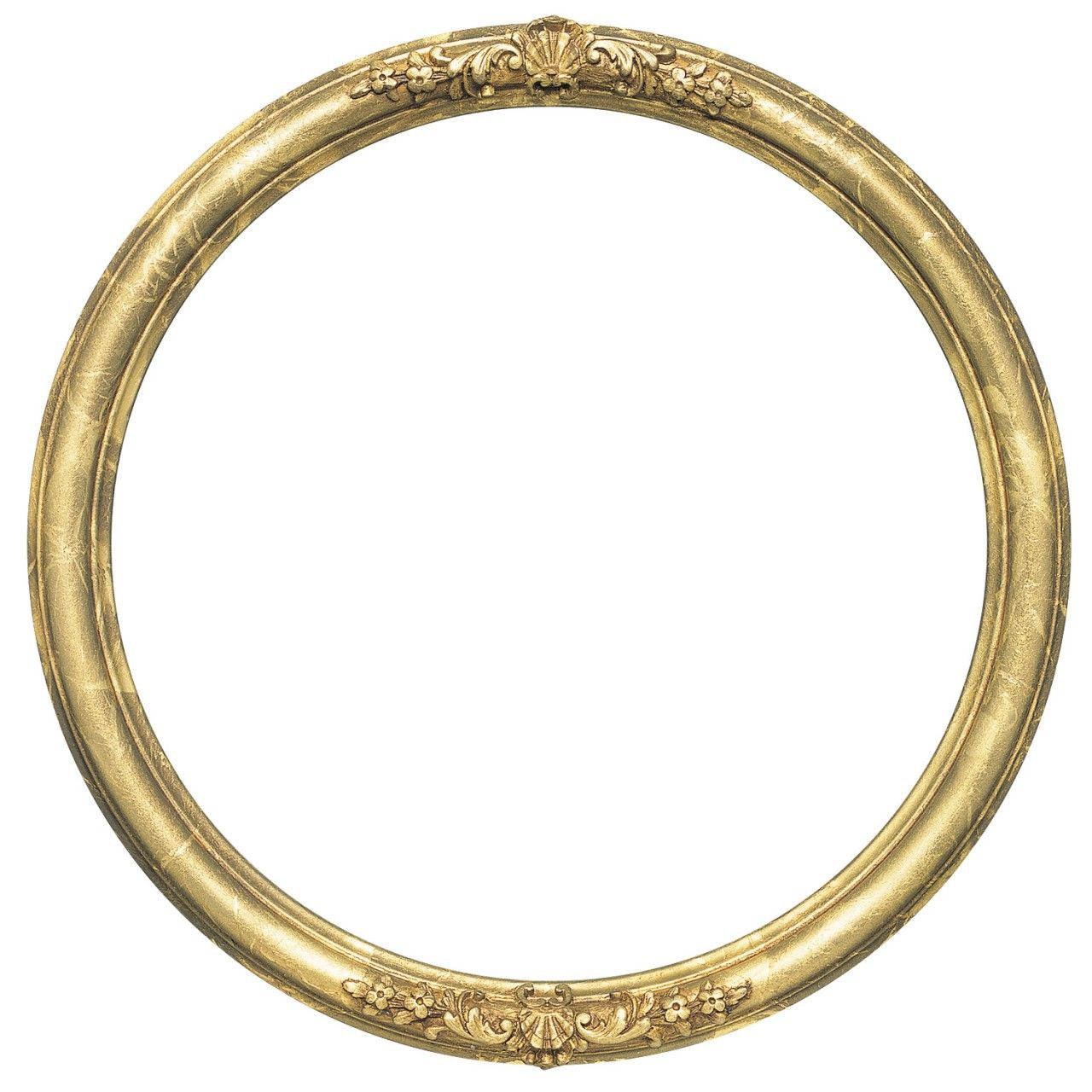 Round Frame In Champange Gold Finish Gold Leaf Picture Frames With Dark Shadding Ornate Decoratio Round Picture Frames Oval Picture Frames Picture Frame Decor