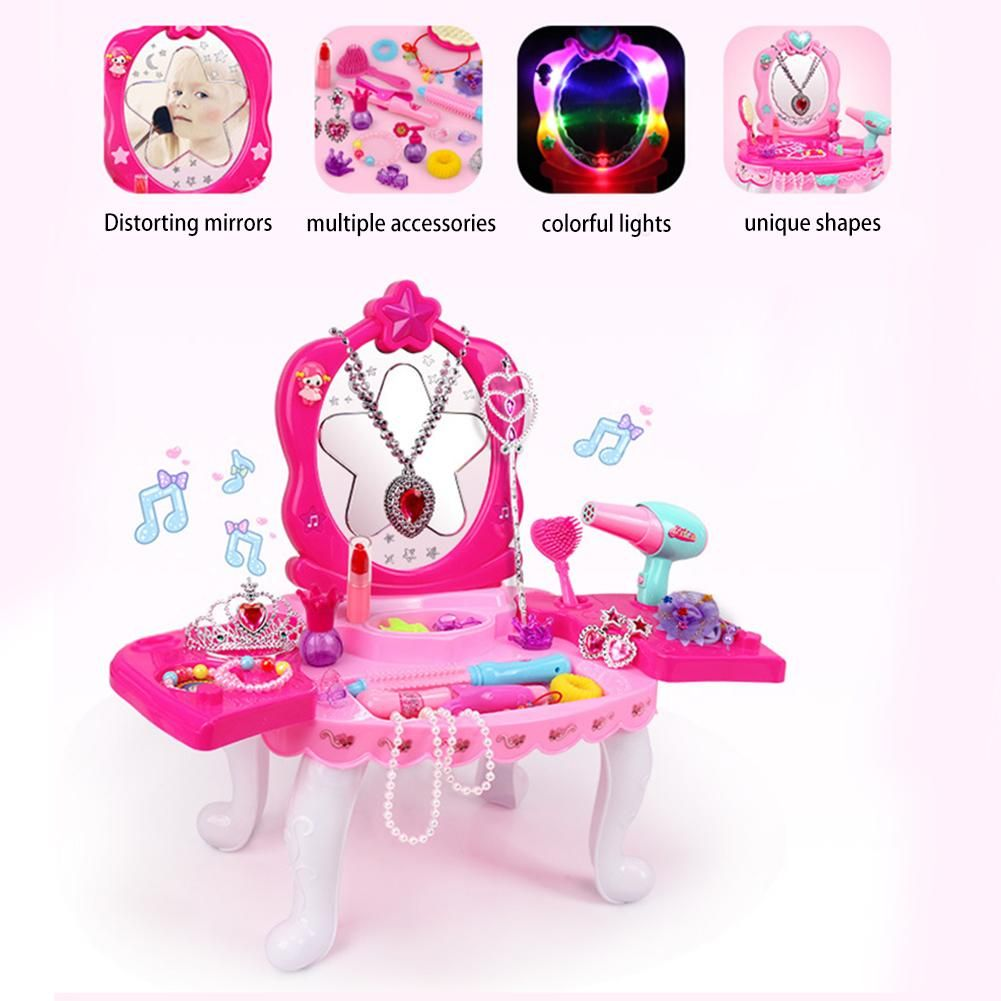 Limited Offer Children Pretend Play Dressing Table Toy Girl Cosmetics Playset Makeup Toys With Lig In 2020 Makeup Toys Dressing Table Toy Fashion Toys
