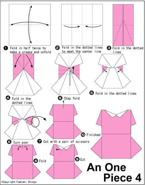 Ideas para el hogar manualidades vestidos de papel para dise o de postales ideas - Robe en origami ...