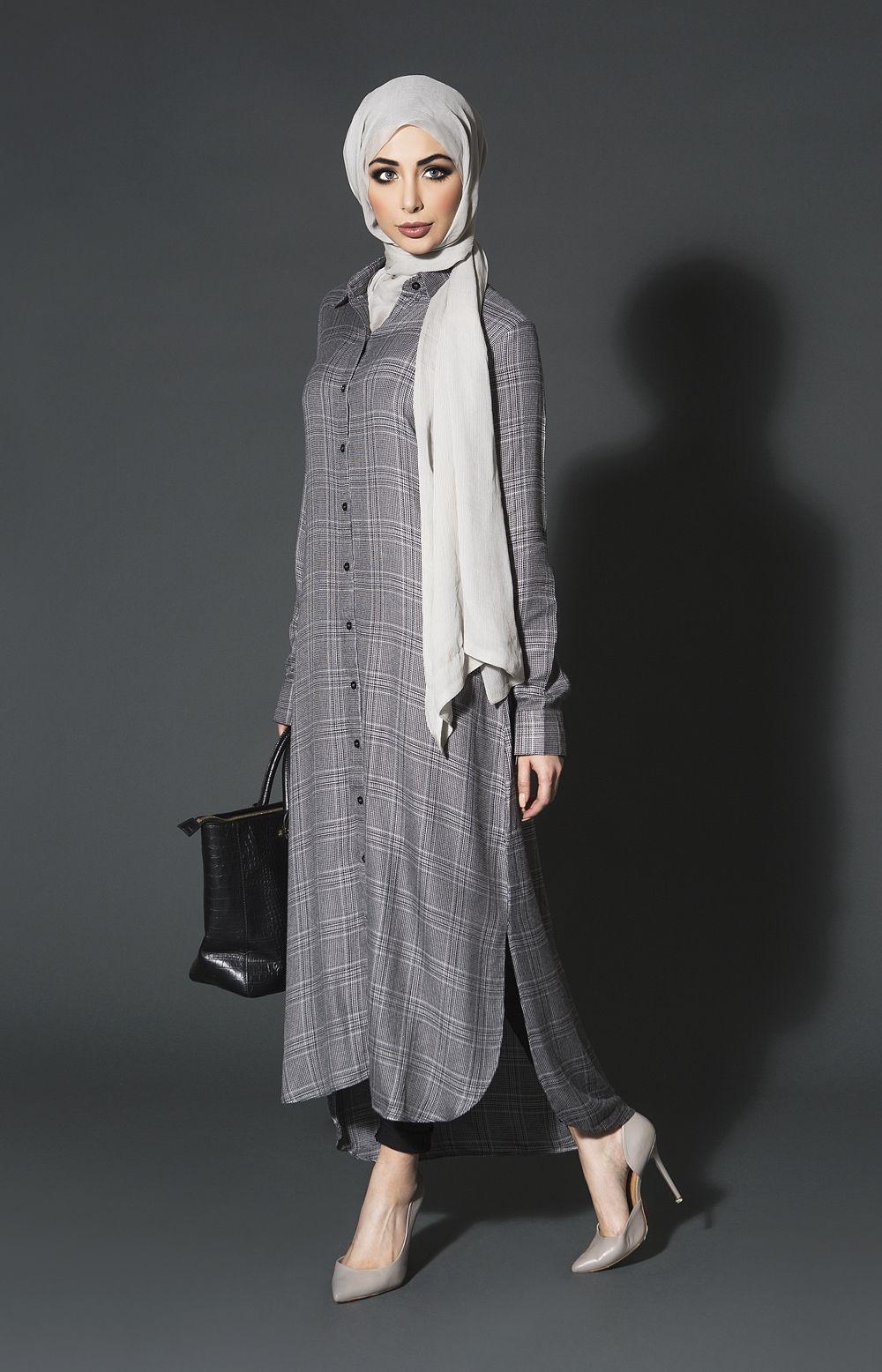 Smart Tweed Shirt Dress | Aab | muslim fashion | Pinterest ...