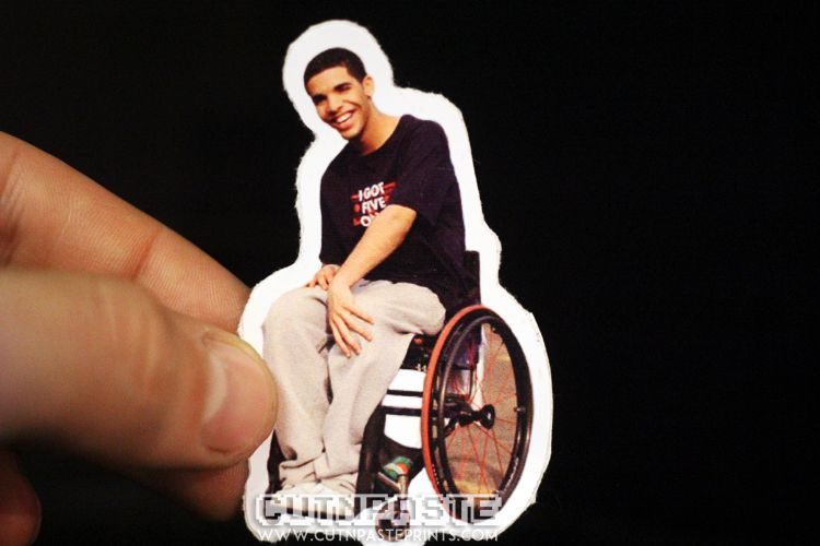 wheelchair drake desk chair junior sticker these stickers are perfect for school folders skateboards laptops