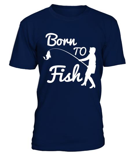 BORN TO FISH HUMOUR SLOGAN FISHING T SHIRT,SIZES