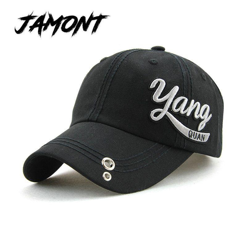 JAMONT  NEW Cotton Baseball Cap For Men Summer Hat For Women Iron Ring Hats d92c000b404