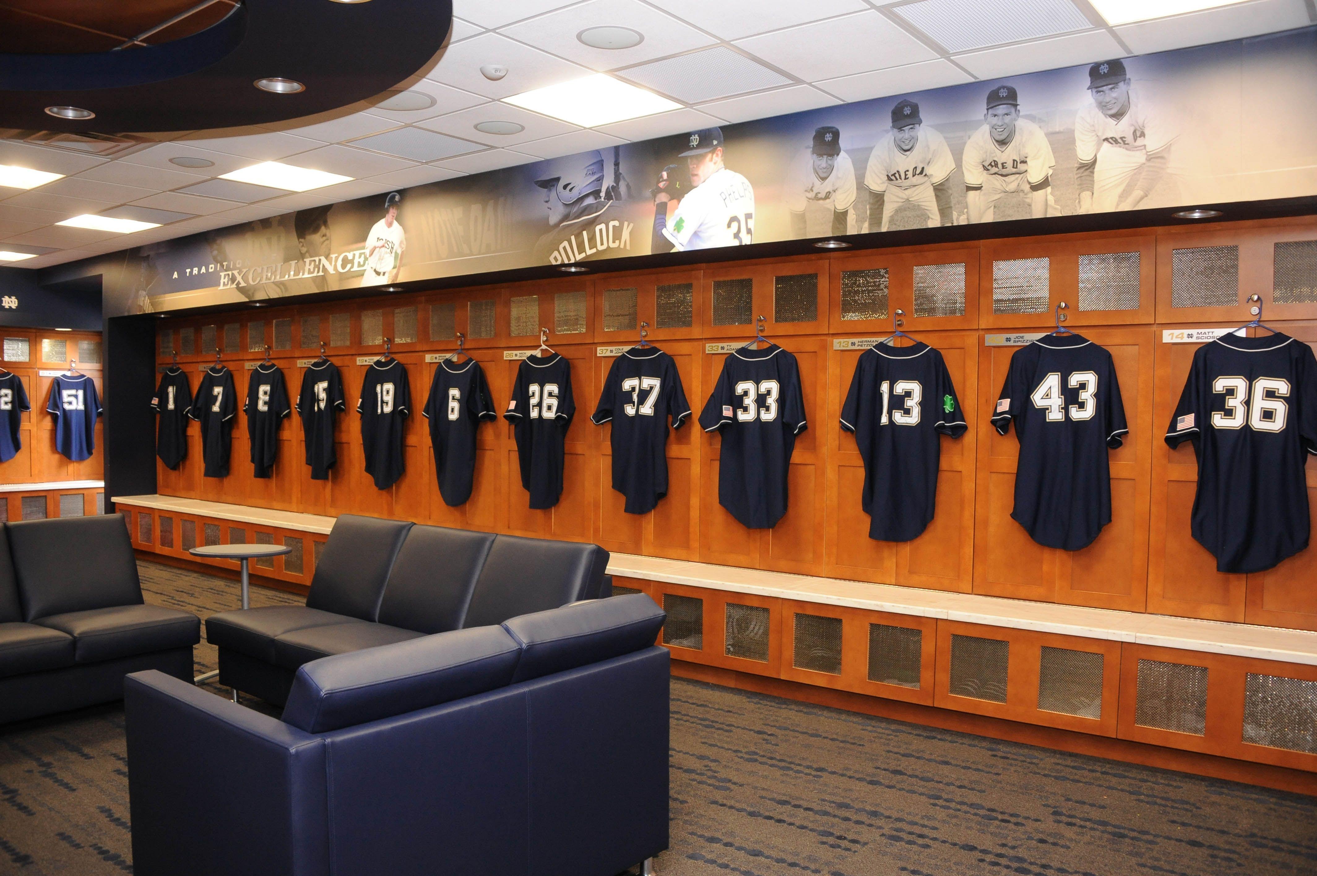 The Home Locker Room Serves As Hub For All Things Notre Dame Baseball Description