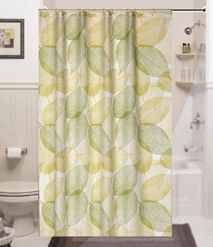Brand New Narrow Width Textile Shower Curtain 120CM Wide X 200CM Long Autumn Leaves