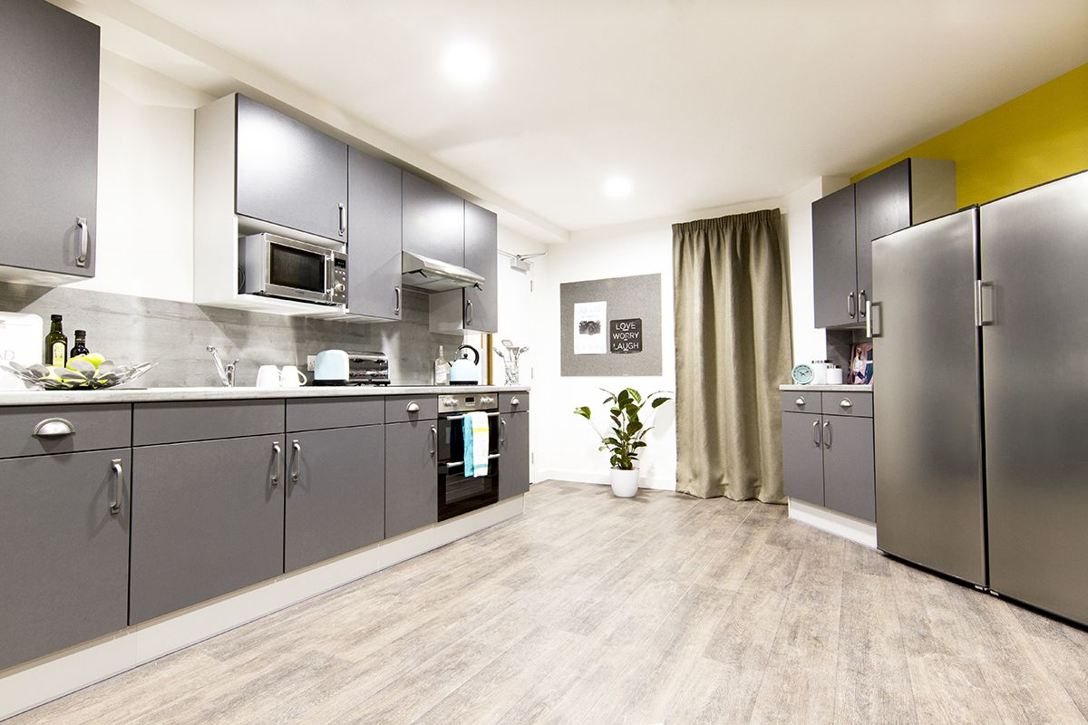 Birmingham Bentley House Student Accommodation Shared Kitchen