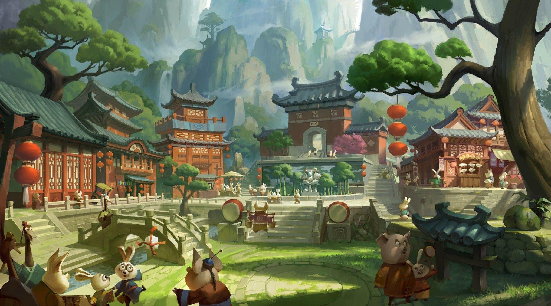 ArtStation Kung Fu Panda , muyang xu Environment