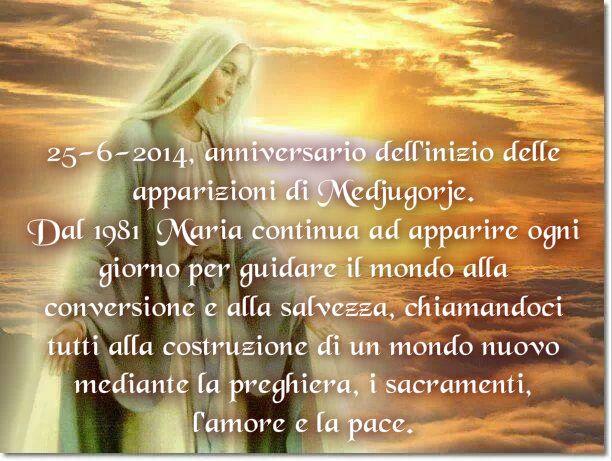 33° anniversario di Medjugorje.  Maria ogni giorno appare ai veggenti e ogni 2 e 25 del mese dà loro messaggi per guidare il mondo sulla via della santità.