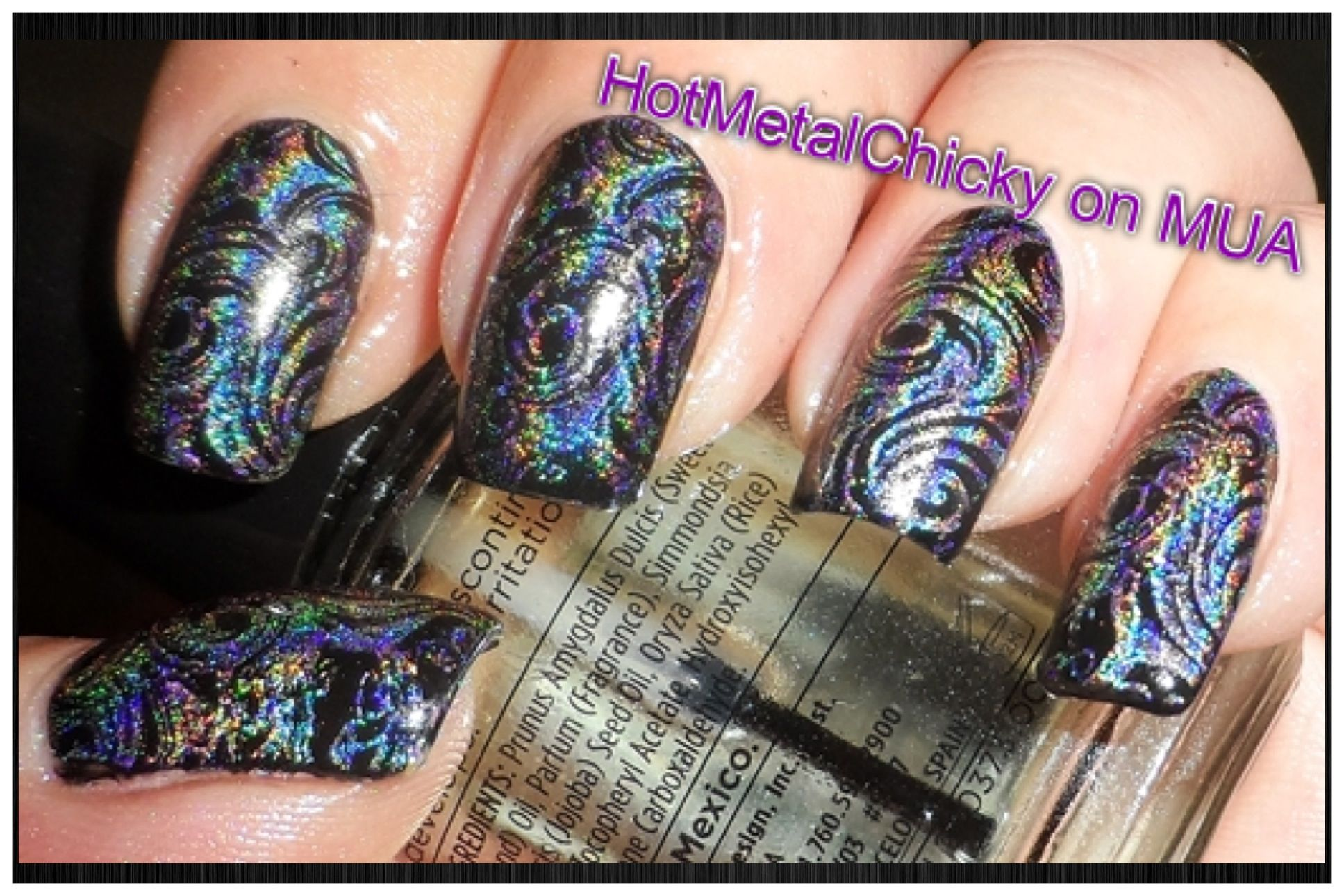 Color Club Cherubic stamped by HotMetalChicky on MakeupAlley | Nails ...
