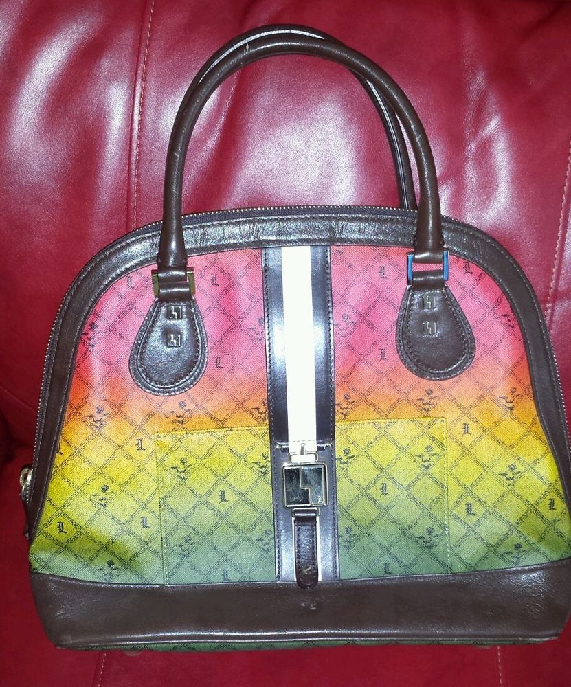 L A M B Gwen Stefani Large Rasta Handbag Satchel
