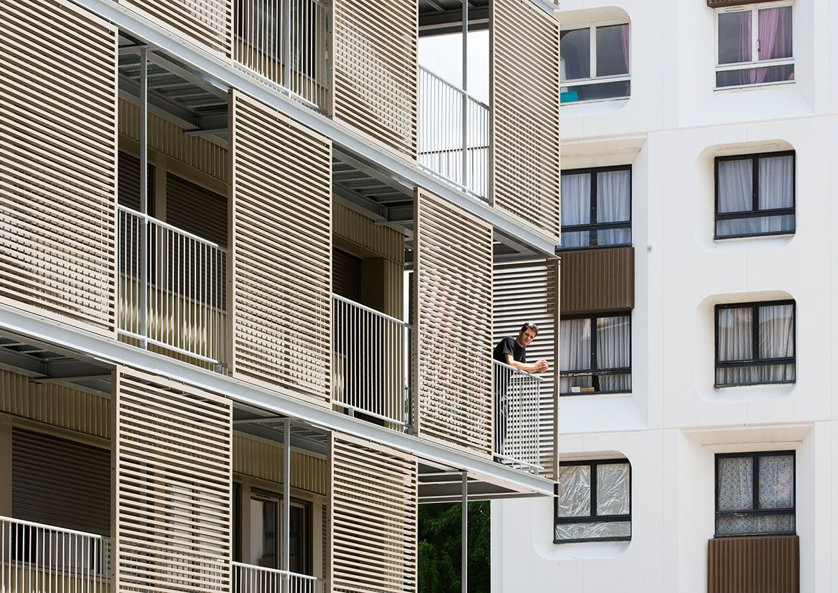 Rehabilitation of the shell of a social housing building