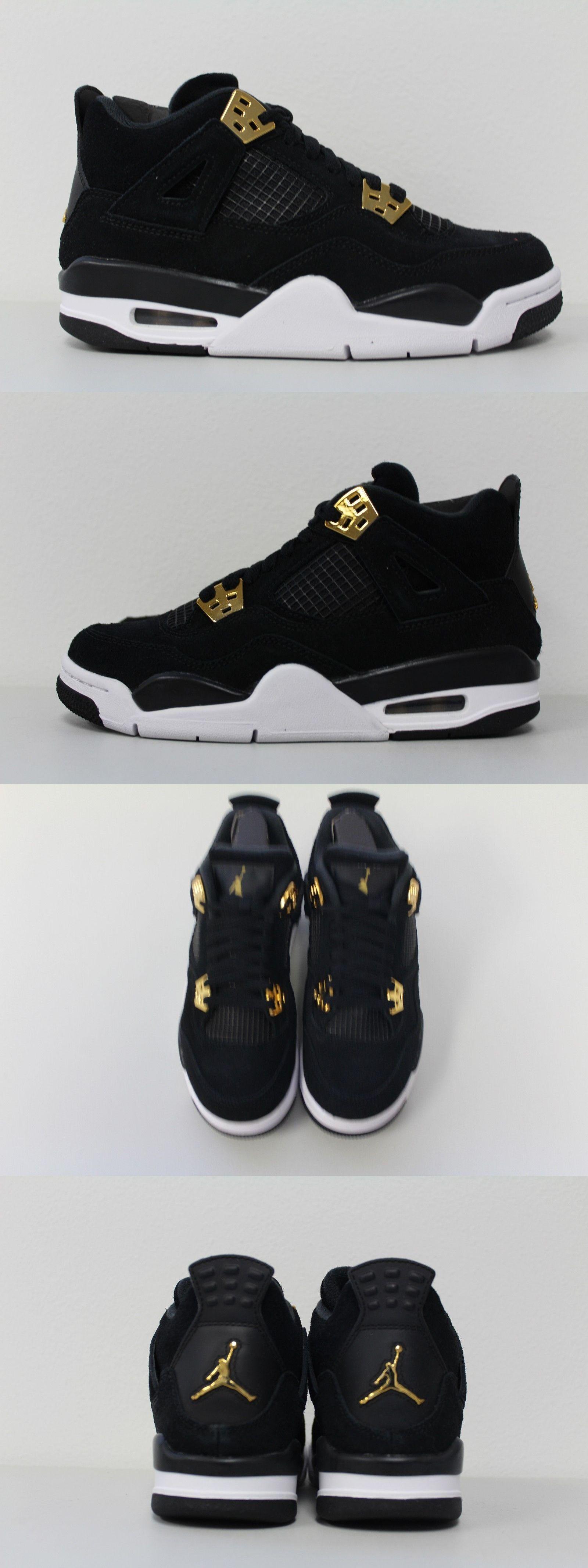 29a5520d66e Unisex Shoes 155202  Youth Nike Air Jordan Retro 4 Royalty Black Metallic  Gold Gs 408452-032 Sz 6Y -  BUY IT NOW ONLY   139.99 on eBay!