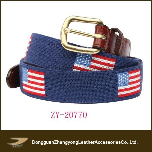 (ZY-D2443S)New arrival fashion needlepoint belt,golf belt $1.5~$3