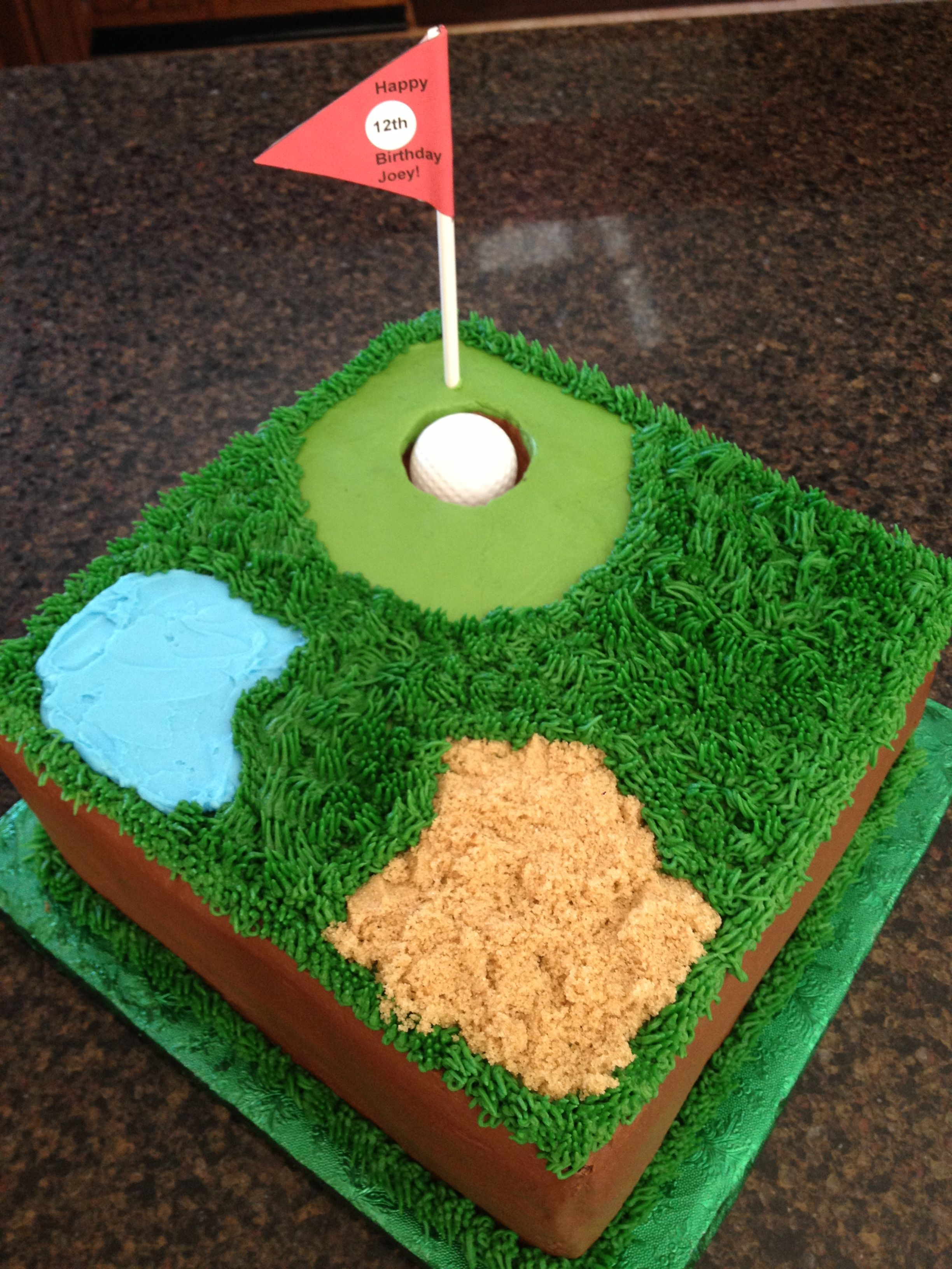 Quick And Easy Golf Cake With Images Golf Birthday Cakes
