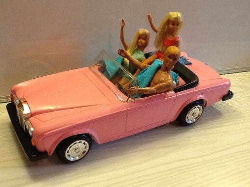 Malibu Barbie Ken Skipper Doll Lot In Pink Zima Rolls Royce Clic Convertible Ebay