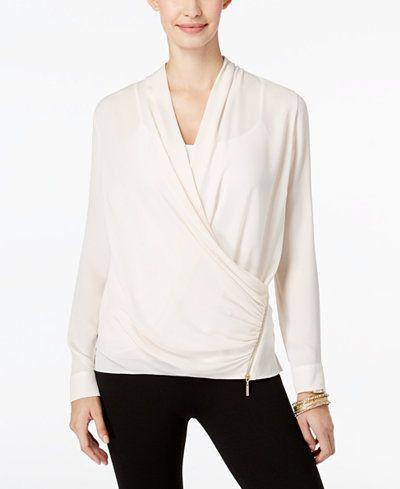 Thalia Sodi Faux-Wrap Top, Only at Macy's