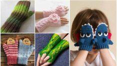 Para niños de punto modelos de guantes - Modelos guantes sin dedos de los niños