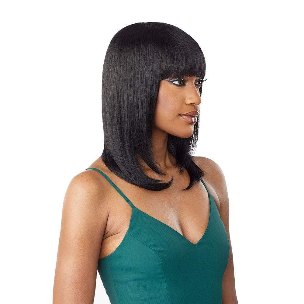 Sensationnel 100% Unprocessed Virgin Human Hair Full Wig - Straight 18