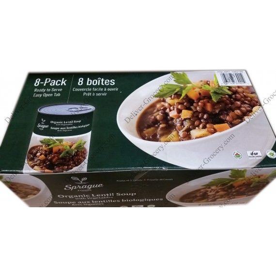 Sprague Organic Lentil Soup With Vegetables 8 X 398 G I Get At