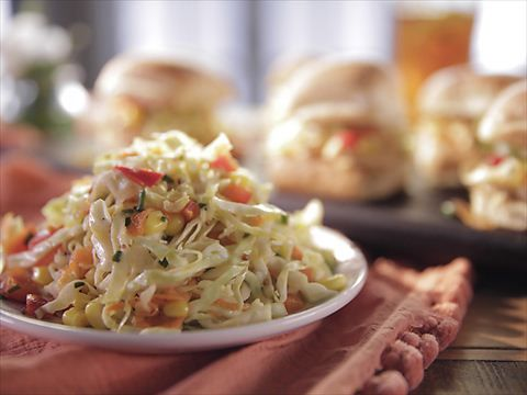 Pulled chicken and spicy slaw recipe slaw recipes trisha pulled chicken and spicy slaw slaw recipessauce recipeseasy forumfinder Image collections