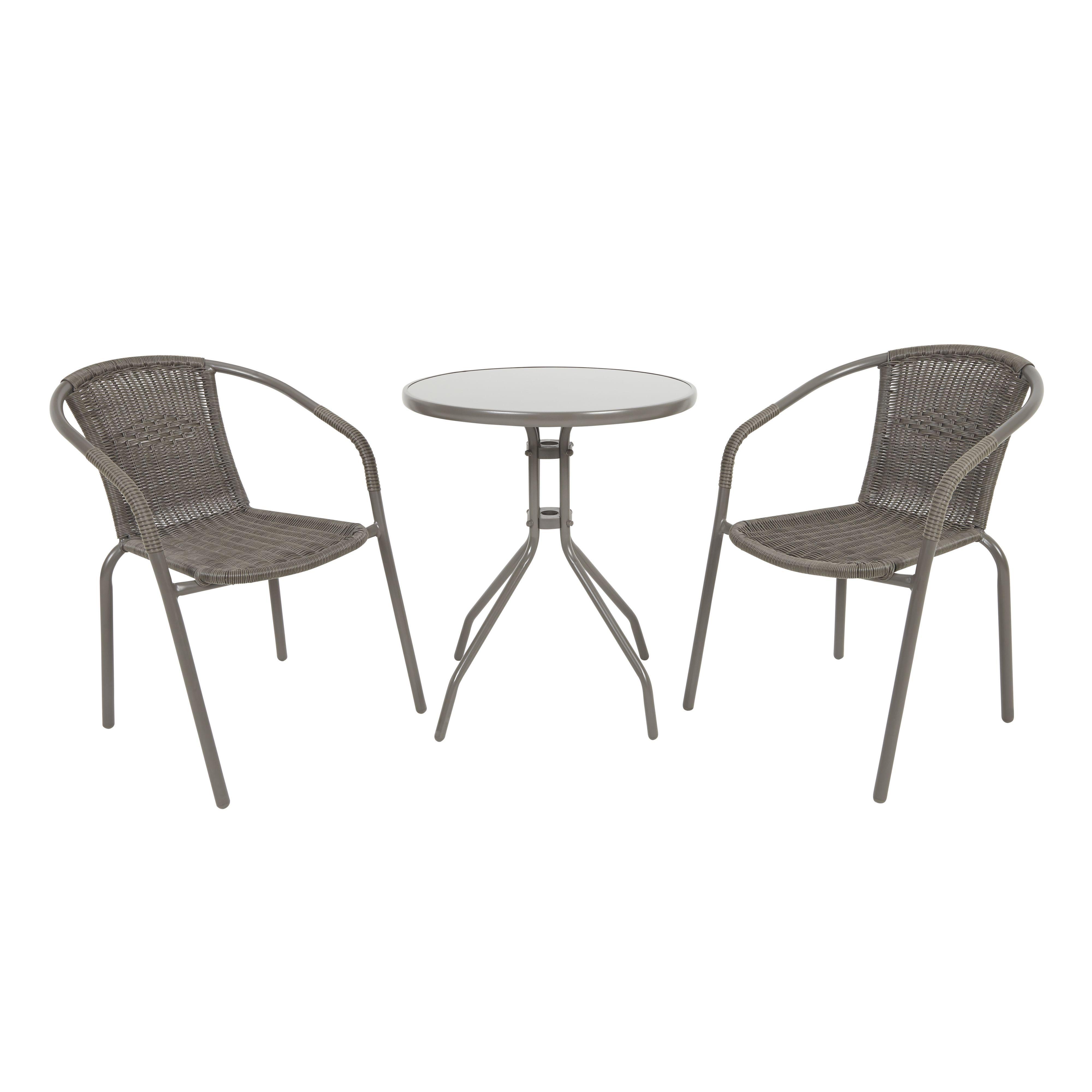 Stupendous Bari Metal 2 Seater Bistro Set Departments Diy At Bq Creativecarmelina Interior Chair Design Creativecarmelinacom