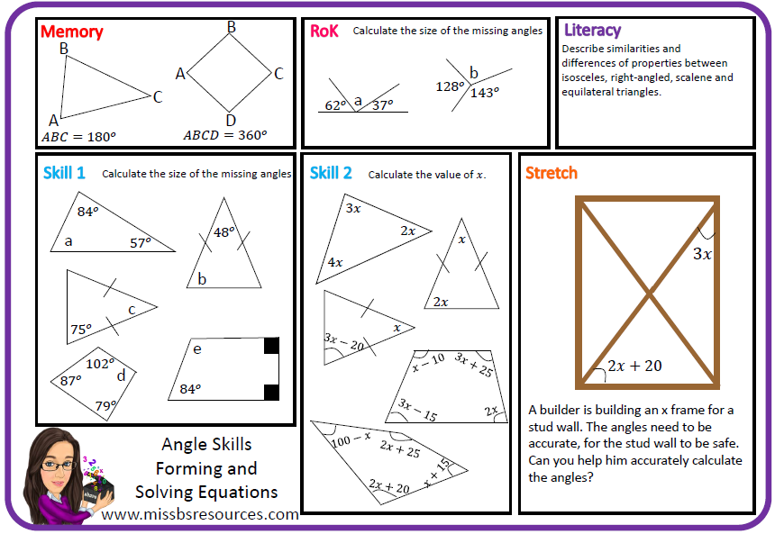 Geometry Maths Differentiated Worksheets Geometry