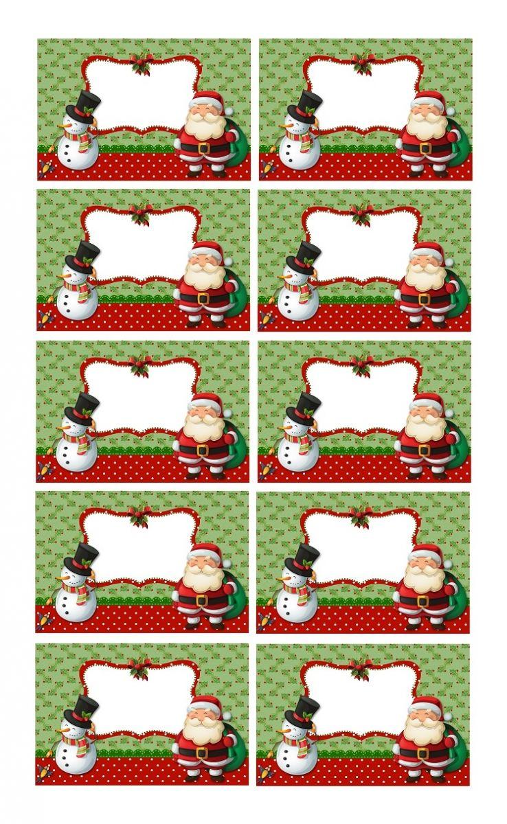 créer étiquettes de noël à coller sur les cadeaux | etiquettes